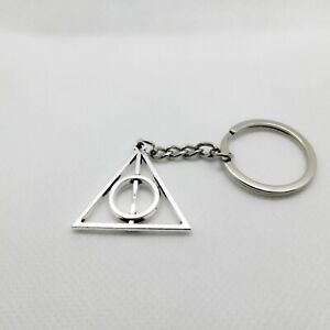 Harry-Potter-Deathly-Hallows-Symbol-Geek-Nerd-Novelty-Keyring-Keychain-Gift-Bag