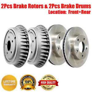 Front Rear Brake Rotors /& Drums 4 PCS For 1984 Jeep Wagoneer