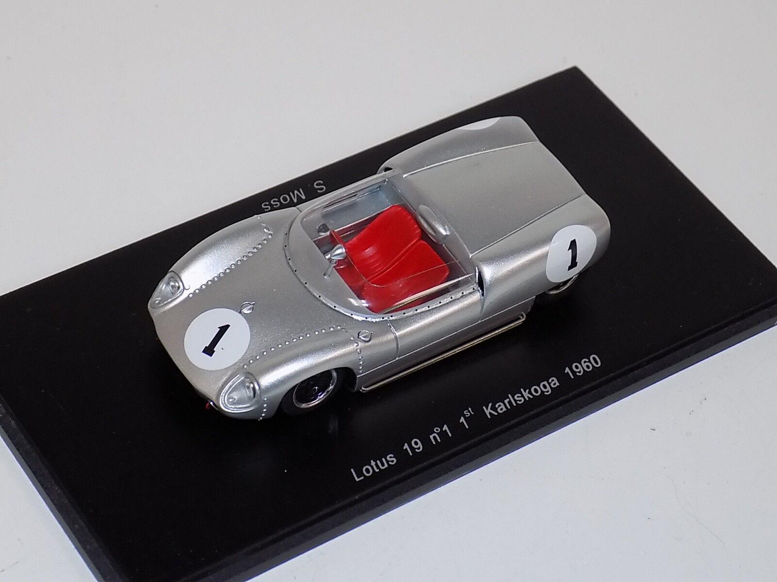 1 43 Spark Lotus 19 coche primero en 1960 Karlskoga S0259