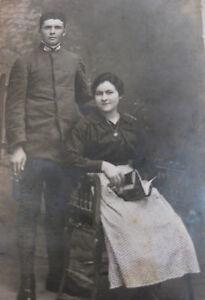 Photographie-ancienne-couple-militaire-Henri-Challier-Florine-Guiot-Marseille