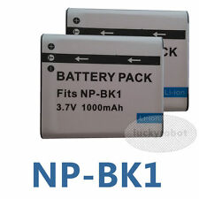 2X Battery For NP-BK1 Sony Cyber-Shot S780 S750 S950 S980 W190 W370 W180