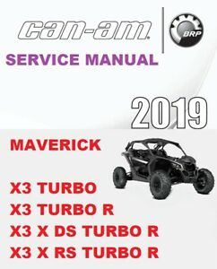 Can-Am 2019 Maverick X3 x RS Turbo R Service Manual