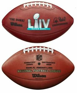 Super Bowl Liv 54 Authentic Wilson Nfl Game Football Official Game Ball Ebay