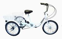 Ultimate Hardware Freedom Adults 20 Wheel 6 Speed Cargo Trike Tricycle White