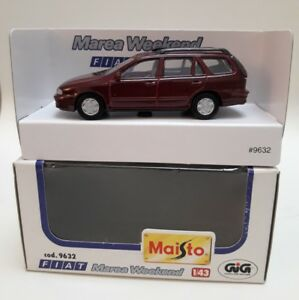 Fiat-Marea-weekend-station-wagon-familiare-Maisto-Art-9632-1-43-bordeaux-MB-mint