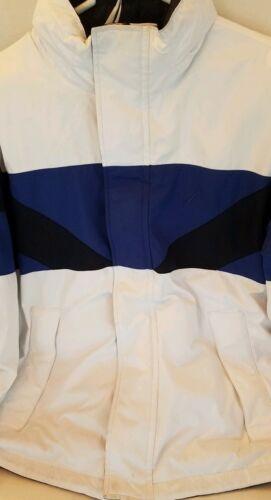 Nautica Coat Mens Med Reversible Block Jacket Hood