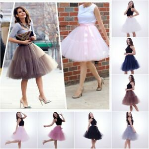 e66b8556042 Lolita Skirt 5 Layers Tulle Midi Tutu Skirts Bridesmaid Wedding ...