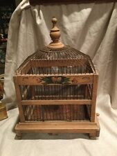 VINTAGE ANTIQUE ART DECO WOODEN BIRD CAGE AWESOME. PRICE LOWERED!!