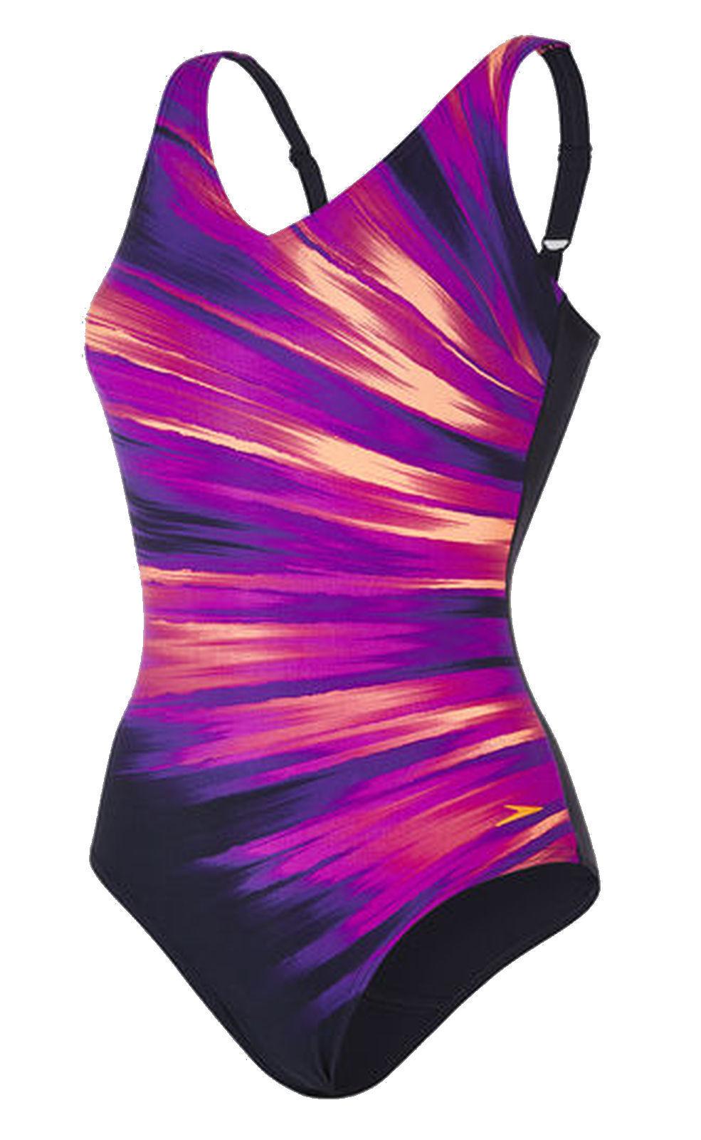 Speedo Ladies Swimsuit Sculpture vivapool bluee Purple orange