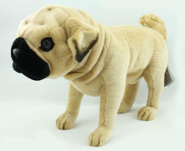 Realistic Pug Stuffed Animal, Hansa Realistic Pug Dog Soft Toy 39cm Long For Sale Online Ebay