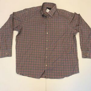 Scott-Barber-Mens-Button-Front-Shirt-White-Gingham-Long-Sleeve-XXL-New