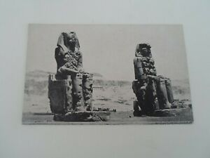 EGYPT, THEBES, The Famous Colossus of Memnon, Vintage Picture Postcard §F609