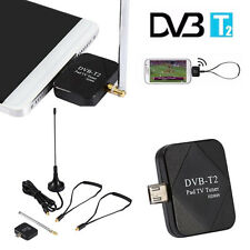 1pc Android DVB-T DVB-T2 USB Dongle Receiver HD TV Tuner For Phone/Tablet PC HOT