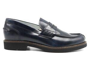 Scarpe-da-uomo-Nero-Giardini-E001440U-mocassino-eleganti-blu-vera-pelle