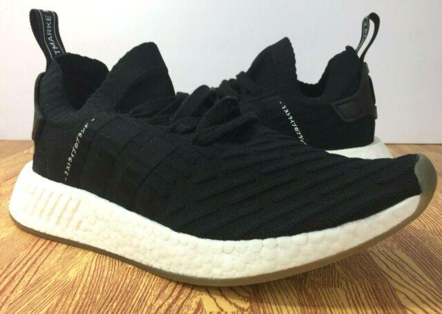 67455792c adidas Originals NMD R2 PK Primeknit Japan Black Mens Shoes BY9696 ...