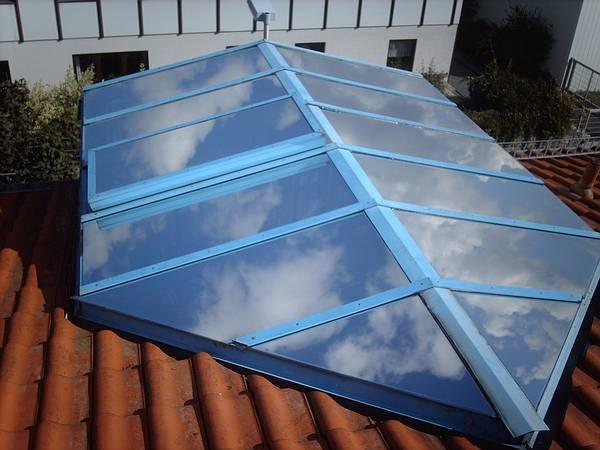 Sonnenschutzfolie Dachfensterfolie SOL-DA silber dunkel