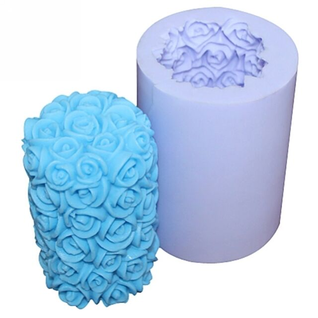 Rose Candle mold S211 Silicone Soap mold Craft Molds DIY Handmade candle mould