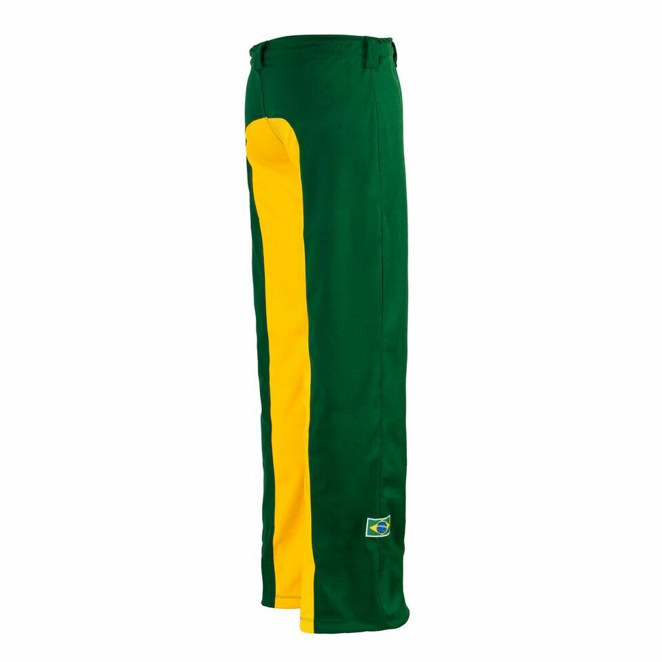 Unisex Brazil Flag Green Yellow Capoeira Martial Arts Elastic Sport Trousers New