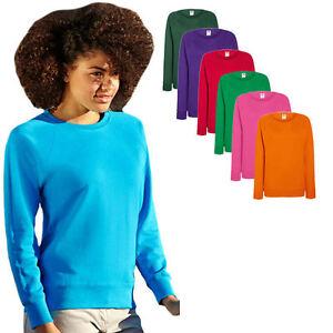 Details zu Fruit of the Loom Damen Sweatshirt Sweat Pullover S M L XL XXL