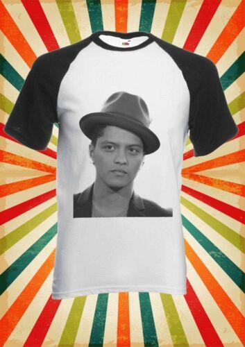 Bruno Mars Singer R/&B Funk Pop Men Women Long Short Sleeve Baseball T Shirt 1960