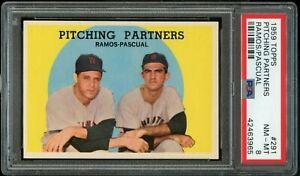 1959-Topps-BB-Card-291-Ramos-Pascual-Senators-PITCHING-PARTNERS-PSA-NM-MT-8