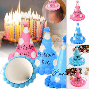 Image Is Loading Paper Cone Hats Dress Up Girls Boys Party