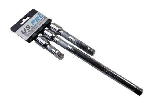 250mm Long 4141 125 US PRO 3pc 1//2/'/'dr Extension Bar Set 75