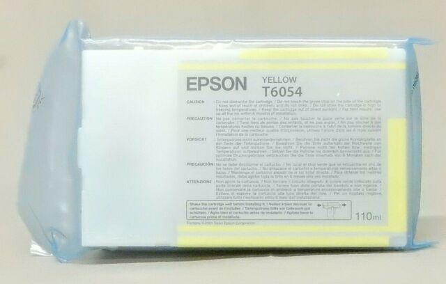 Epson T6054 Yellow Ink Cartridge T605400 Stylus Pro 4800 Genuine New Sealed Bag