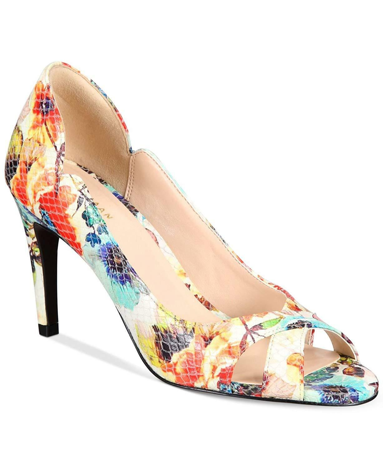 Cole Haan Womens Jacinda Peep Toe Heels shoes Floral 10 NEW IN BOX