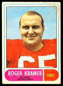 1968-OPC-O-PEE-CHEE-CFL-FOOTBALL-82-Roger-Kramer-VG-Calgary-Stampeders