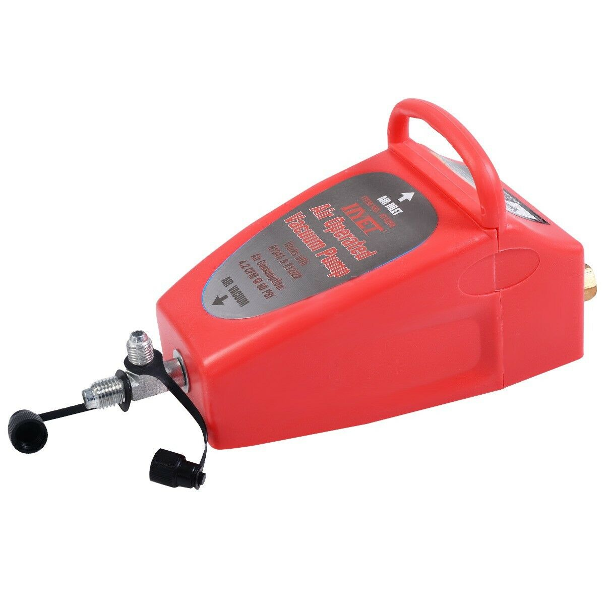 Auto Pneumatic 4.2CFM Air Operated Vacuum Pump A/C Air Conditioning System Tool 4
