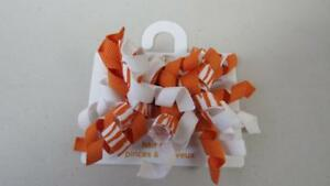 Gymboree-Batik-Summer-Orange-Curly-Ribbon-Set-2-Plastic-Hair-Clips-One-Size-NEW