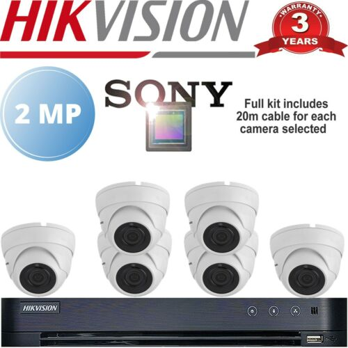 HIKVISION HIGH DEFINITION CCTV BUNDLE SONY CAMERAS 1080P OUT DOOR NIGHT VISION
