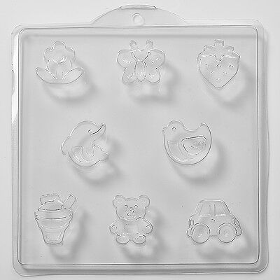 Assorted Childrens Soap Mould 8 Cavity M42 FREE P&P