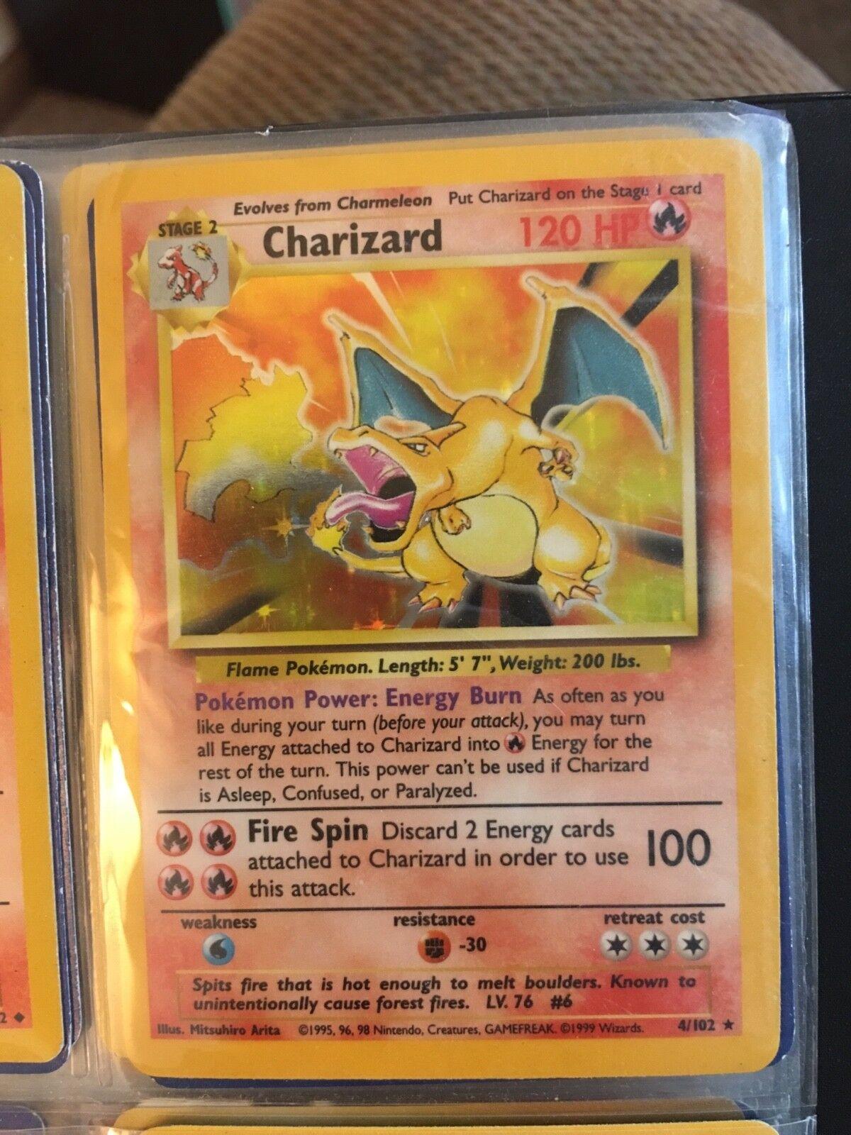 Rare Rare Rare holographic Pokémon Charizard first series card. Perfect condition. 5bd5d0