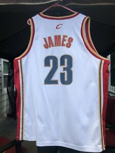 Details about NIKE CLEVELAND LEBRON JAMES WHITE STITCHED JERSEY SIZE 2XL