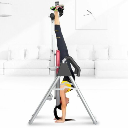 Inversion Table Hanging Up Foldable Fitness Back Therapy Pain Flip Upside Down