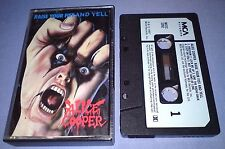 ALICE COOPER RAISE YOUR FIST AND YELL PAPER LABELS cassette tape album T2395