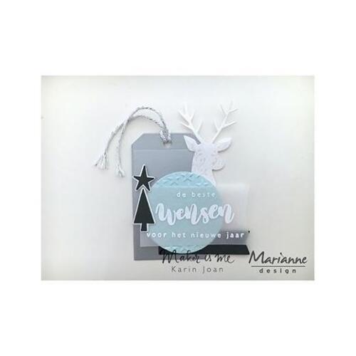 Stars /& Tag COL1442 Marianne Design Collectables Cutting Dies Karin/'s Deer