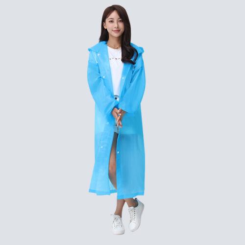 EVA Women Raincoat Thickened Waterproof Rain  Clear Transparent Camping Raincoat