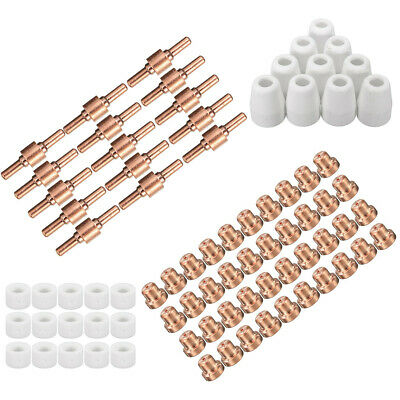 80x Consumables Plasma Cutter Tips Set LG-40 PT-31 For Cutting Torch
