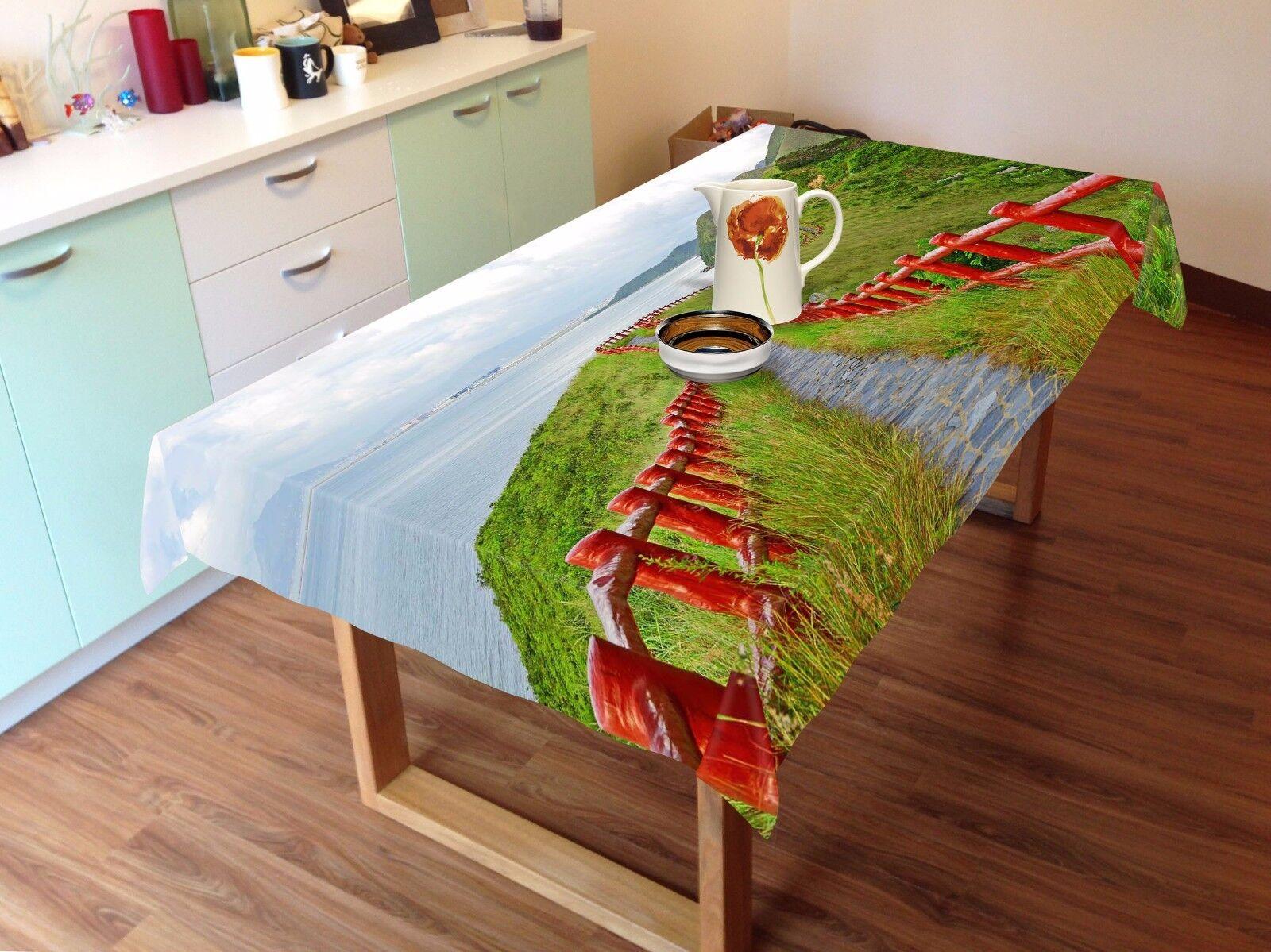 3D Lawn Sky Tablecloth Table Cover Cloth Birthday Party AJ WALLPAPER UK Lemon