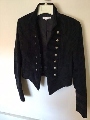 Alice Olivia Military Style Jacket Pinstripped Sz