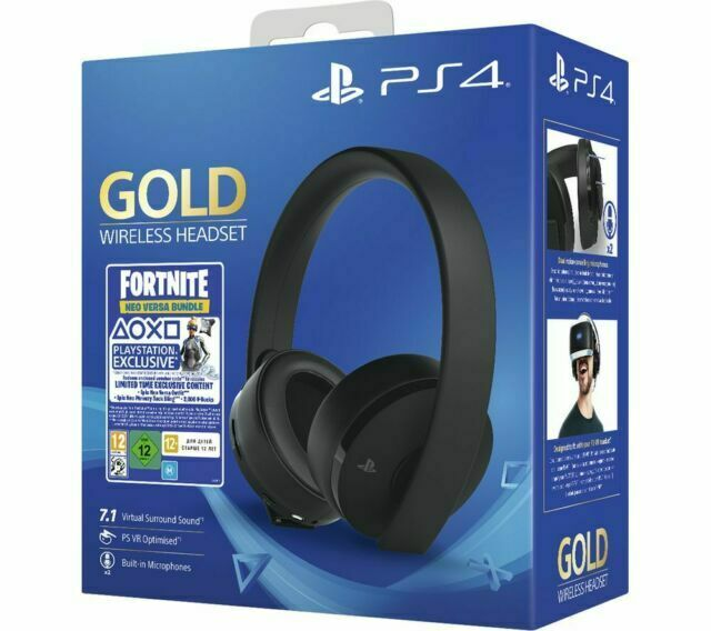 PS4 Gold Wireless Headset Headphones