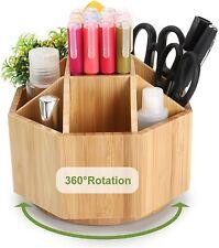Maydear Bamboo Rotating Pencils Holder Art Supply Organizer Office Supplies