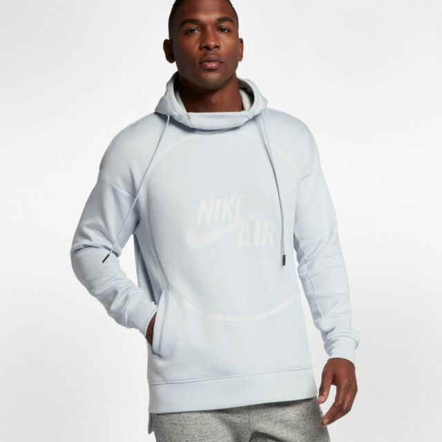 b22379bd1 Nike Air Sportswear Pullover Fleece Hoodie Pure Platinum XL New Hoody 857485