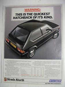 1984-FIAT-STRADA-ABARTH-130-TC-BRITISH-MAGAZINE-FULLPAGE-ADVERTISEMENT