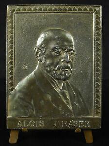 Medal-Alois-Jirasek-Writer-Elegant-Calla-Lily-Bride-and-Republic-Czech-1930-10cm