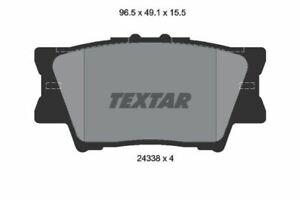 2433801 Genuine OE Textar Rear Disc Brake Pads Set