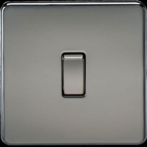 Screwless 10 A 1 G intermédiaire commutateur-nickel noir 15YR Garantie